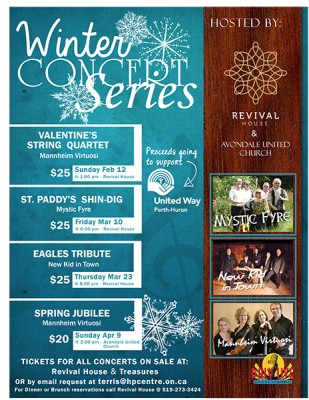 Winter Concert Series - St. Paddy's Shin-dig with the Celtic Band Mystic Fyre @ Revival House | Stratford | Ontario | Canada