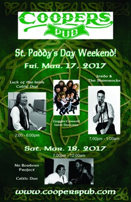 St. Paddy's Day Weekend at Coopers Pub @ Coopers Pub | Mississauga | Ontario | Canada